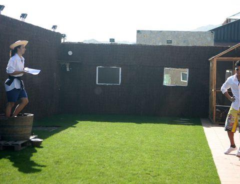 Grass, Hat, Basket, Sun hat, Lawn, Storage basket, Picnic basket, Fedora, Wicker, Artificial turf,