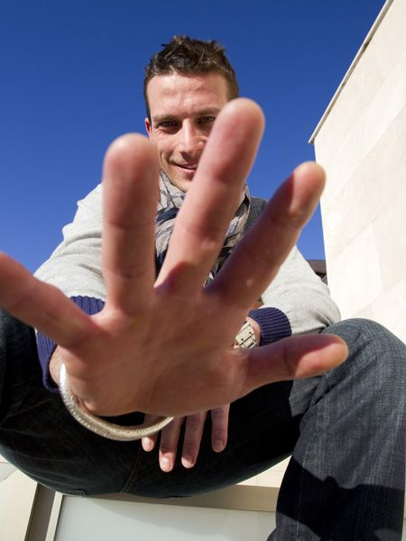 Finger, Hand, Wrist, Thumb, Nail, People in nature, Cool, Azure, Gesture, Denim,