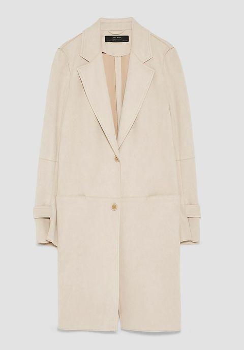 Clothing, Outerwear, Blazer, Jacket, Beige, Sleeve, Coat, Suit, Formal wear, Collar,