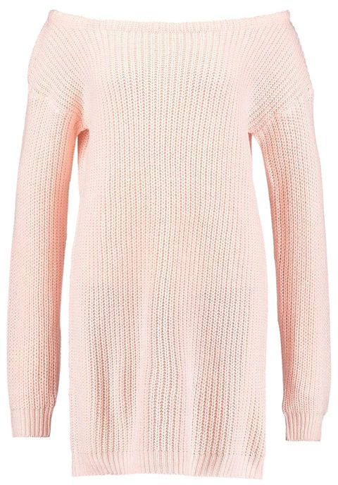 Clothing, Pink, Shoulder, Outerwear, Sweater, Neck, Sleeve, Joint, Beige, Wool,