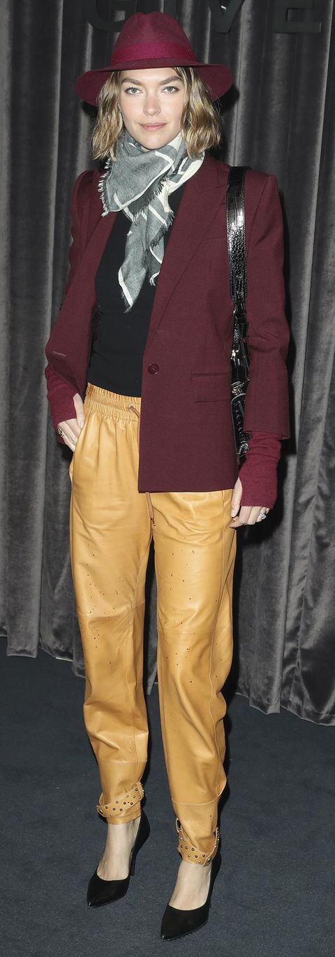 Brown, Yellow, Sleeve, Collar, Textile, Khaki, Outerwear, Style, Suit trousers, Pocket,