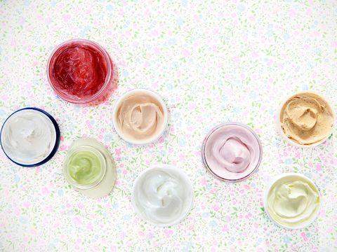 Pink, Circle, Button, Peach, Cosmetics,