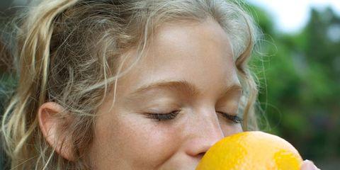 Hairstyle, Skin, Eyebrow, Citrus, Fruit, Ingredient, Natural foods, Jewellery, Produce, Lemon,