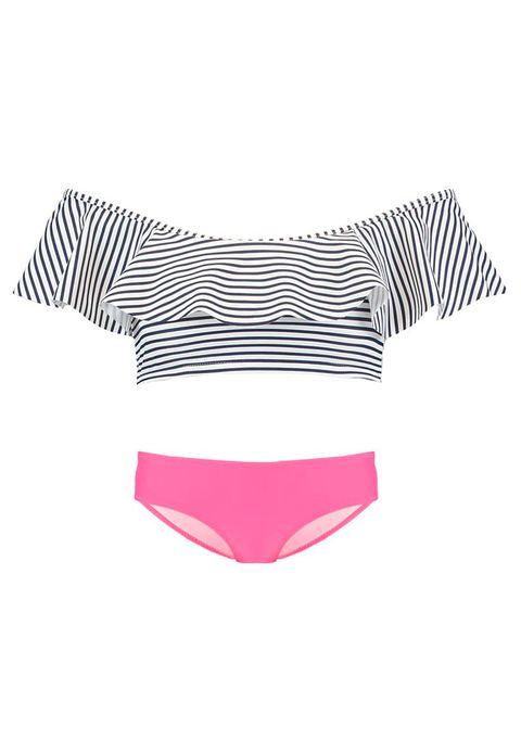Clothing, Bikini, Swimwear, Pink, Swimsuit bottom, Briefs, Swim brief, Swimsuit top, Undergarment, One-piece swimsuit,