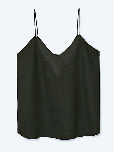 Clothing, Crop top, camisoles, Blouse, Shirt, Undergarment, Outerwear, Sleeveless shirt, Neck, Top,