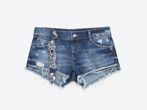 Blue, Product, Denim, Trousers, Jeans, Textile, Pocket, White, Shorts, Electric blue,