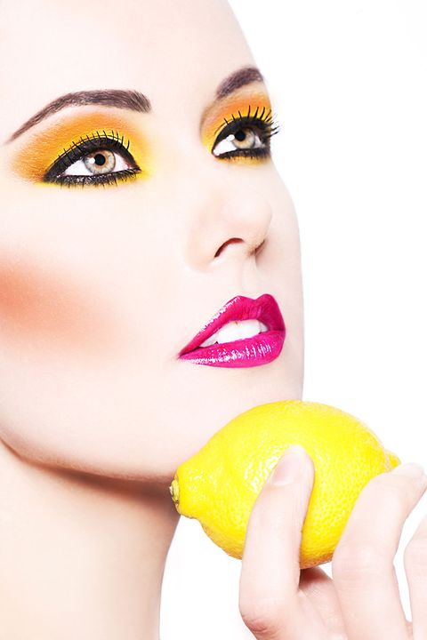 Face, Lip, Skin, Nose, Eyelash, Beauty, Yellow, Head, Eyebrow, Pink,