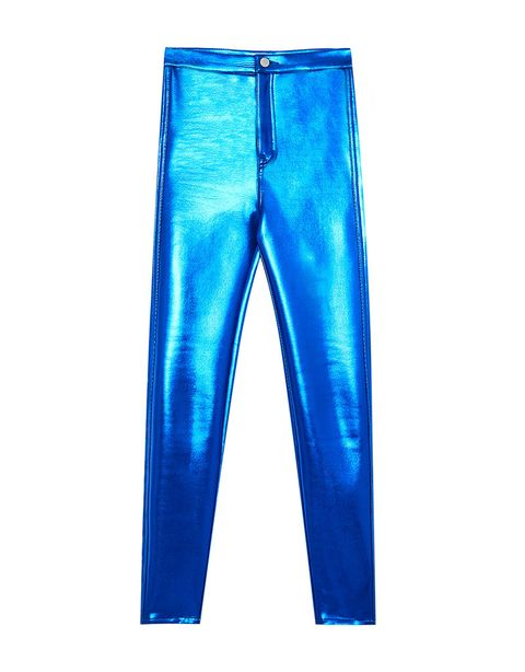 Clothing, Blue, Jeans, Cobalt blue, Trousers, Denim, Electric blue, Active pants, Leggings, Pocket,
