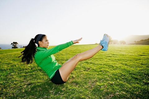 Grass, Shoe, Elbow, Happy, People in nature, Plain, Grassland, Sunlight, Knee, Morning,