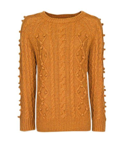 Product, Brown, Yellow, Sleeve, Textile, Sweater, Amber, Orange, Pattern, Woolen,