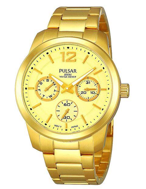 Product, Watch, Analog watch, Yellow, Brown, Glass, Photograph, Fashion accessory, Watch accessory, Amber,