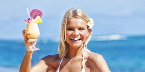 Clothing, Smile, Brassiere, Swimwear, Swimsuit top, Chest, Summer, Undergarment, Abdomen, Bikini,