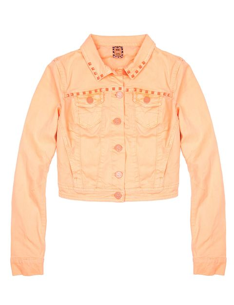 Clothing, Product, Brown, Collar, Sleeve, Orange, Textile, White, Pink, Peach,