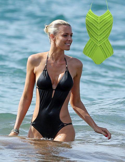 Clothing, Fun, Swimwear, Sportswear, Summer, Chest, Beauty, People in nature, Muscle, One-piece swimsuit,