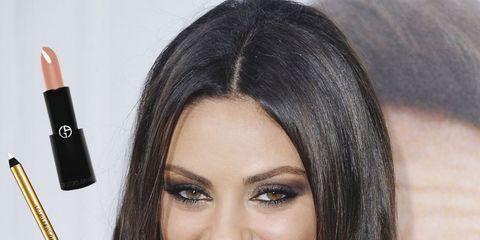 Lip, Brown, Hairstyle, Skin, Eyebrow, Writing implement, Eyelash, Stationery, Black hair, Amber,
