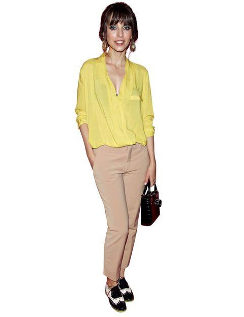 Brown, Dress shirt, Collar, Sleeve, Trousers, Shoulder, Shirt, Textile, Pocket, Joint,