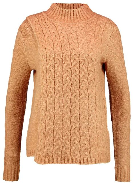 Clothing, Outerwear, Sleeve, Sweater, Neck, Jersey, Beige, Wool, Tan, Shoulder,