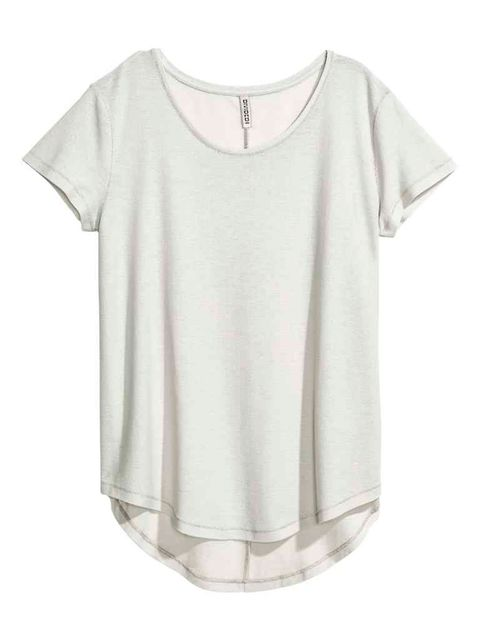 Clothing, Product, Sleeve, White, Neck, Grey, Active shirt, Silver, Top, Day dress,