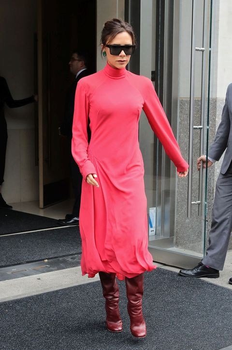 Clothing, Pink, Red, Street fashion, Fashion, Footwear, Dress, Shoulder, Neck, Joint,