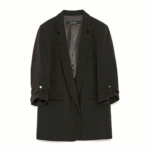 Clothing, Coat, Collar, Sleeve, Textile, Outerwear, Blazer, Fashion, Button, Grey,