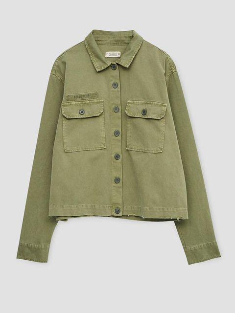 Brown, Product, Collar, Sleeve, Dress shirt, Textile, Khaki, Coat, Uniform, Tan,