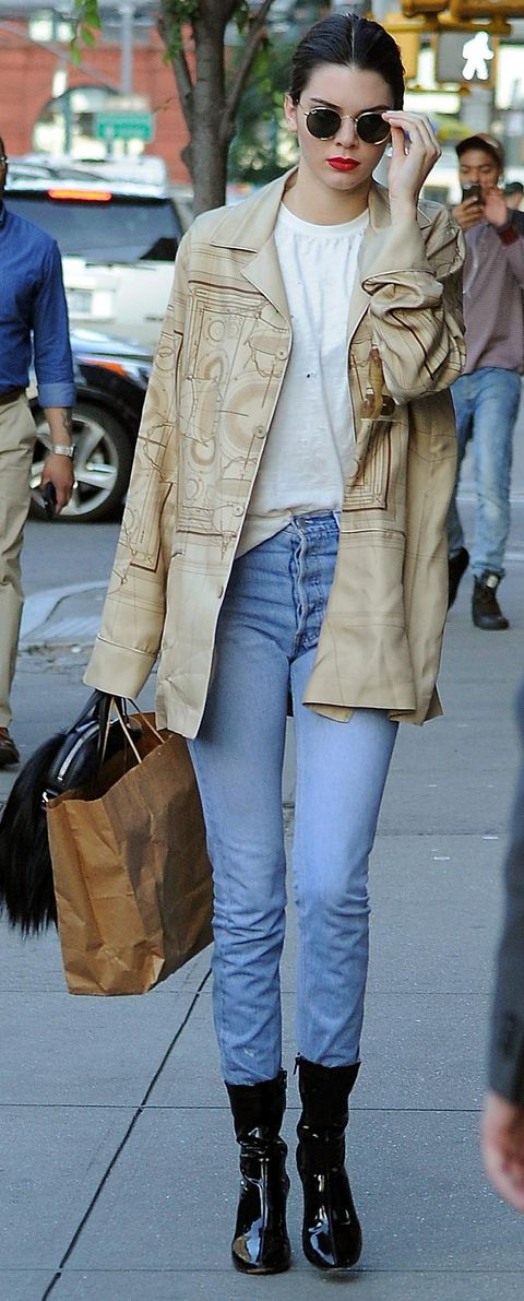 Clothing, Brown, Denim, Textile, Outerwear, Bag, Style, Street fashion, Fashion, Electric blue,