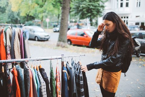 Street fashion, Clothing, Fashion, Beauty, Yellow, Orange, Leather, Textile, Jeans, Jacket,