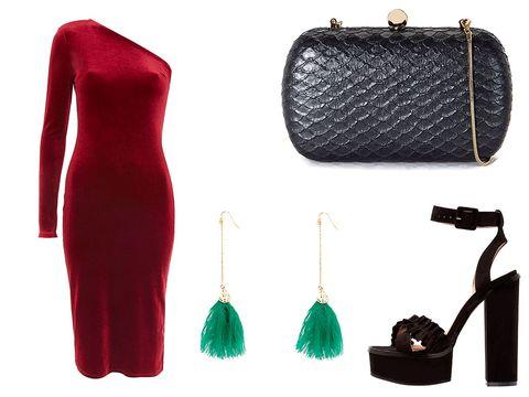 Bag, Handbag, Coin purse, Fashion accessory, Dress, Magenta,