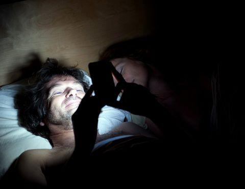 Human, Comfort, Facial hair, Darkness, Black hair, Beard, Flash photography, Linens, Pillow, Bed,