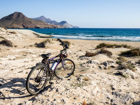Bicycle, Cycling, Coast, Beach, Vehicle, Mountain bike, Sea, Rock, Shore, Sand,