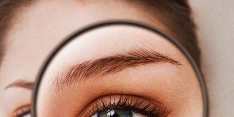 Eyebrow, Face, Eye, Eyelash, Skin, Close-up, Beauty, Organ, Eye shadow, Cheek,