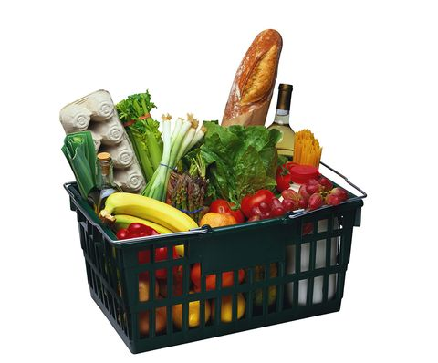 Food, Ingredient, Produce, Whole food, Natural foods, Vegan nutrition, Vegetable, Basket, Food group, Leaf vegetable,