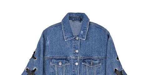 Denim, Clothing, Outerwear, Blue, Jacket, Jeans, Textile, Sleeve, Pocket, Collar,