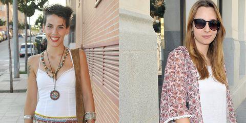 Clothing, Eyewear, Shoulder, Textile, Fashion accessory, White, Sunglasses, Style, Street fashion, Bag,