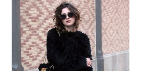 Clothing, Eyewear, Sleeve, Shoulder, Sunglasses, Textile, Photograph, Joint, Outerwear, Style,