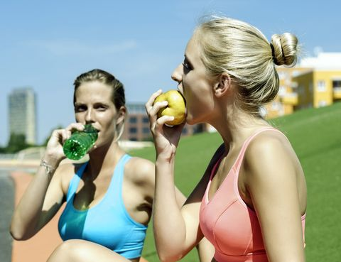 Sleeveless shirt, Summer, People in nature, Drinking, Fruit, Neck, Chest, Eating, Drink, Active tank,