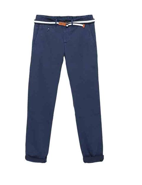 Trousers, Denim, Textile, Standing, Pocket, Azure, Electric blue, Cobalt blue, Active pants, Fashion design,
