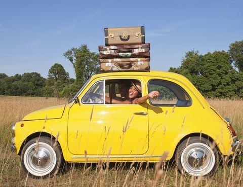 Tire, Motor vehicle, Wheel, Vehicle, Yellow, Land vehicle, Automotive design, Classic car, Automotive tire, Rim,