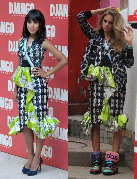 Clothing, Red, Pattern, Style, Dress, Street fashion, One-piece garment, Fashion, Beauty, Fashion model,