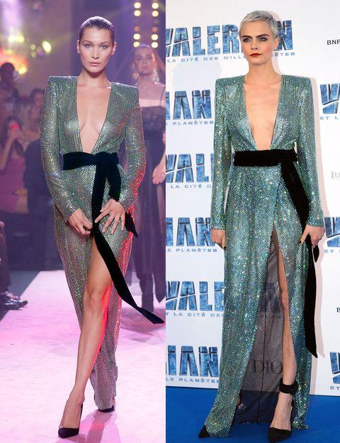Fashion model, Fashion, Clothing, Haute couture, Dress, Carpet, Red carpet, Shoulder, Flooring, Event,