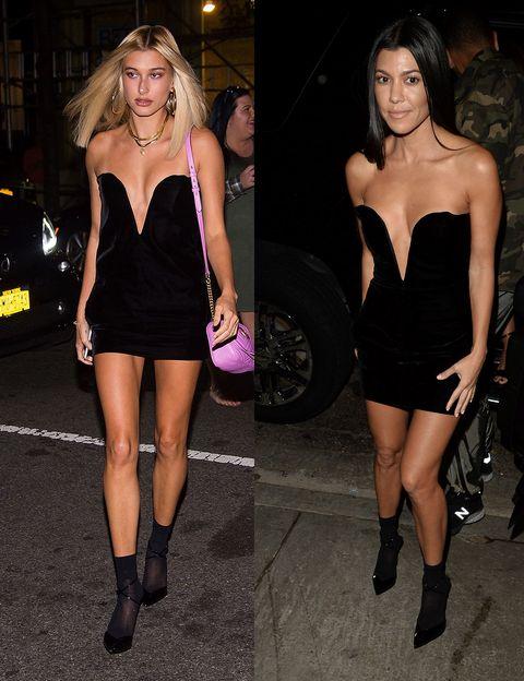 Fashion model, Clothing, Dress, Fashion, Little black dress, Cocktail dress, Shoulder, Leg, Human leg, Thigh,