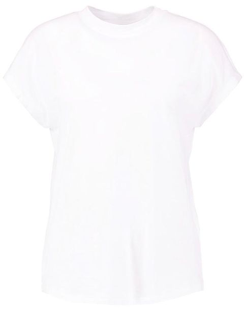 Clothing, T-shirt, White, Sleeve, Top, Neck, Outerwear, Blouse, Shirt,