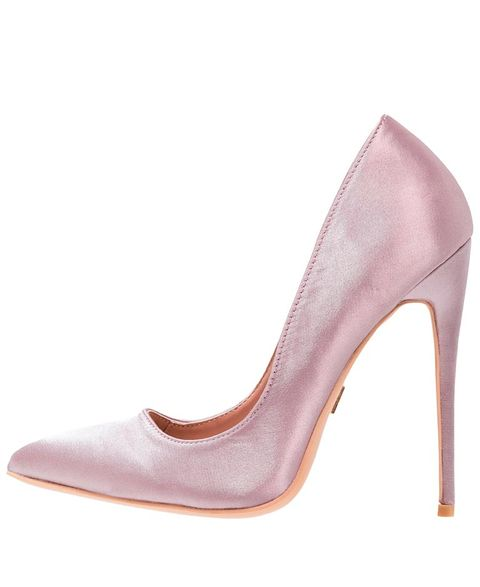 Footwear, High heels, Court shoe, Shoe, Pink, Basic pump, Violet, Purple, Leather, Beige,
