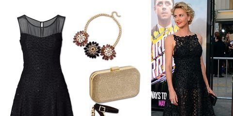 Dress, Style, Pattern, Fashion, Black, One-piece garment, High heels, Day dress, Fashion design, Design,