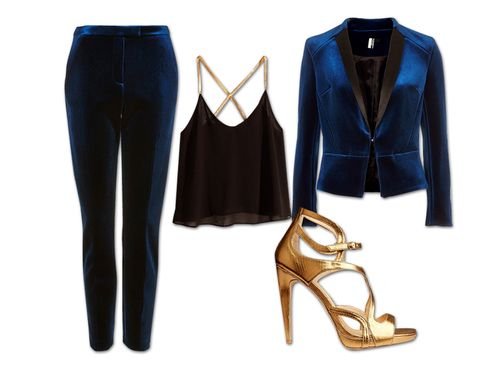 Blue, Product, Brown, Sleeve, Textile, White, Collar, High heels, Style, Electric blue,