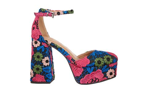 Footwear, High heels, Turquoise, Sandal, Shoe, Beige, Fashion accessory, Magenta, Wedge, Court shoe,
