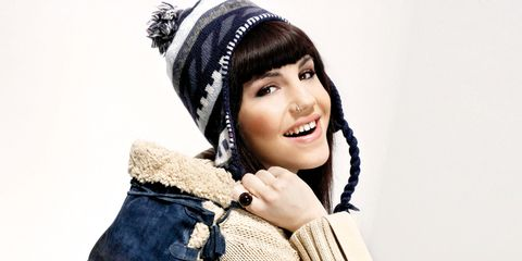 Sleeve, Textile, Winter, Denim, Wool, Fashion accessory, Jacket, Headgear, Costume accessory, Street fashion,