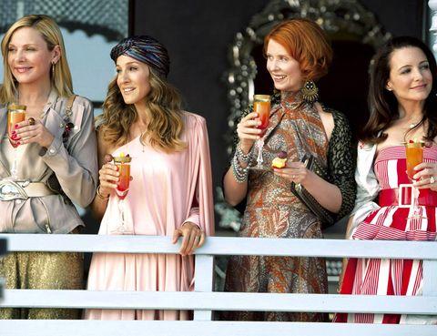 Smile, Fashion accessory, Fashion, Bag, Day dress, Makeover, Peach, Bracelet, Cocktail dress, Ceremony,