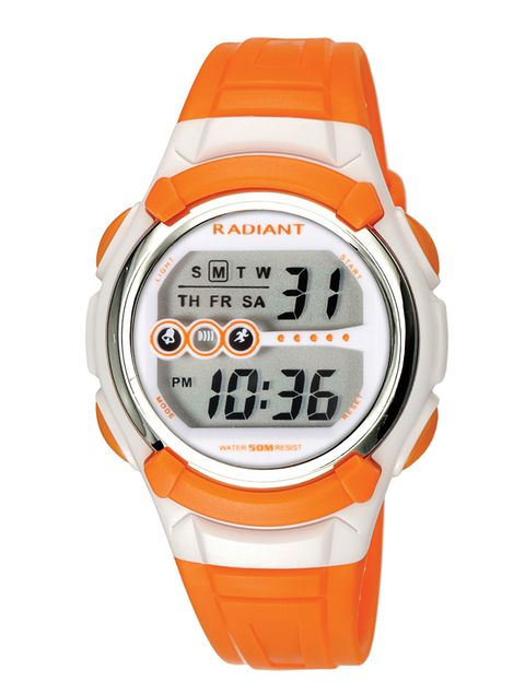 Product, Orange, Watch, Glass, White, Line, Peach, Amber, Watch accessory, Font,