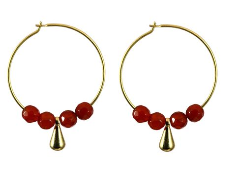 Red, Fashion accessory, Natural material, Jewellery, Art, Maroon, Circle, Creative arts, Body jewelry, Craft,